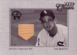 "2001 Fleer Greats ""Feel the Game Classics"" Luis Aparicio Bat #1"