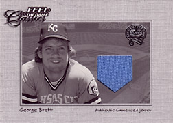 "2001 Fleer Greats ""Feel the Game Classics"" George Brett Jersey #2"