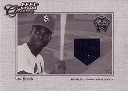 "2001 Fleer Greats ""Feel the Game Classics"" Lou Brock Jersey #3"