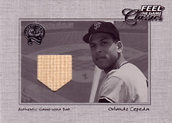 "2001 Fleer Greats ""Feel the Game Classics"" Orlando Cepeda Bat #4"