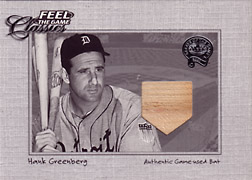 "2001 Fleer Greats ""Feel the Game Classics"" Hank Greenberg Bat #6"