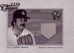 "2001 Fleer Greats ""Feel the Game Classics"" Catfish Hunter Jersey #8"