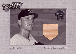 "2001 Fleer Greats ""Feel the Game Classics"" Roger Maris Bat #10"