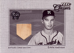 "2001 Fleer Greats ""Feel the Game Classics"" Eddie Mathews Bat #11"