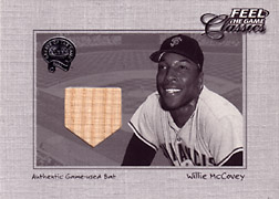 "2001 Fleer Greats ""Feel the Game Classics"" Willie McCovey Bat #12"