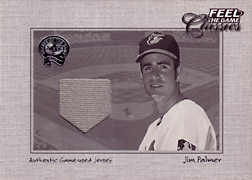 "2001 Fleer Greats ""Feel the Game Classics"" Jim Palmer Jersey #15"