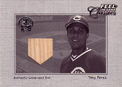 "2001 Fleer Greats ""Feel the Game Classics"" Tony Perez Bat #16"