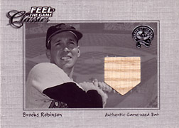 "2001 Fleer Greats ""Feel the Game Classics"" Brooks Robinson Bat #17"