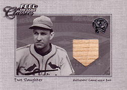 "2001 Fleer Greats ""Feel the Game Classics"" Enos Slaughter Bat #21"