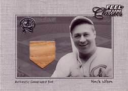 "2001 Fleer Greats ""Feel the Game Classics"" Hack Wilson Bat #23"