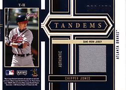 2004 Playoff Honors #T11 Chipper Jones Jersey