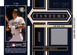 2004 Playoff Honors #T28 Jose Canseco Jersey