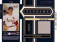 2004 Playoff Honors #T35 Ken Boyer Jersey